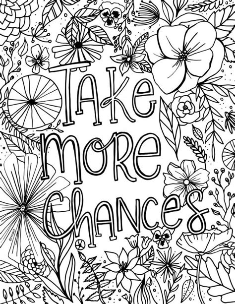 Free Encouragement Flower Coloring Page Printable Fox