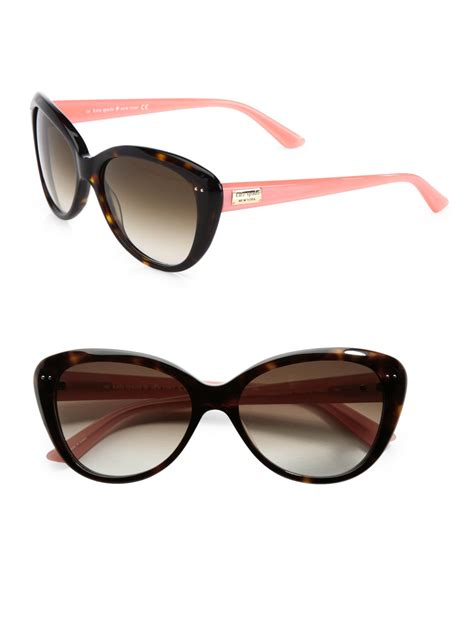 Kate Spade Angelique Two-Tone Plastic Cats-Eye Sunglasses