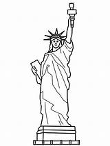 Liberty Statue Coloring Pages Sheet Drawing Sculpture France Step Printable Colouring Easy Head Getdrawings Getcoloringpages Symbols American Getcolorings sketch template