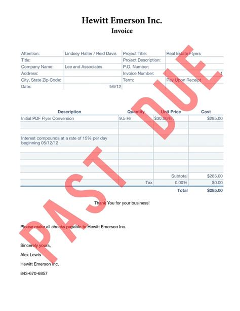 late payment invoice template qualads