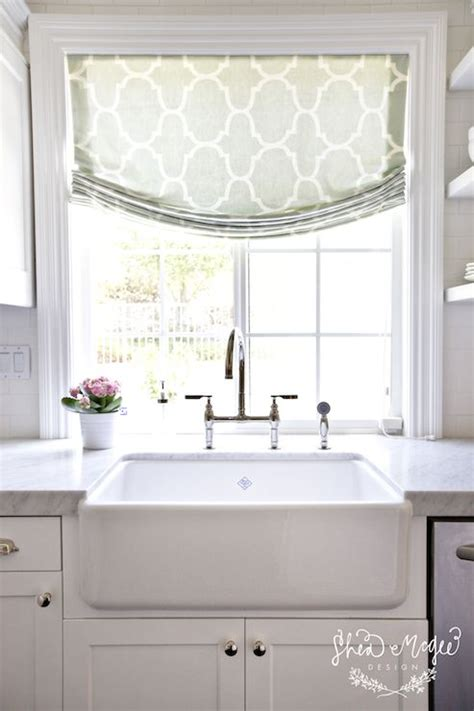kitchen sink window treatment ideas roman shades in kitchens jacoby company