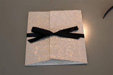 flower garden embossed pochette wedding invitation