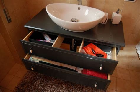 ikea hack vessel sink 17 best images about powder room on tile