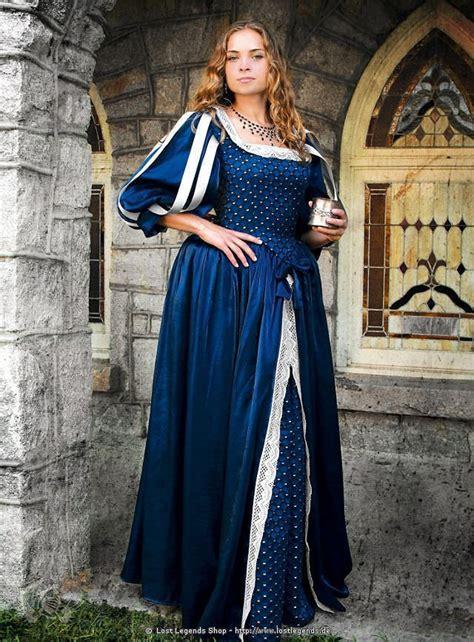 renaissance gewand blau verleihkostm mittelalternet