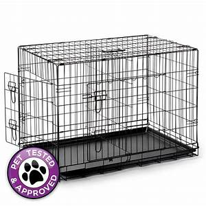 42quot dog cage crate folding kennel with divider pet puppy for 42 dog crate with divider
