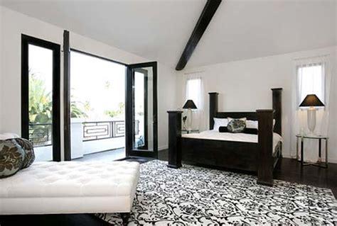 bedroom design decor black  white bedroom