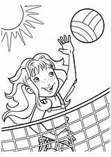 Coloring Pages Sports Printable Alien Sunset Themed Volleyball Shimmer Cute Sheet Books Getcolorings Print Getdrawings Pony Little sketch template