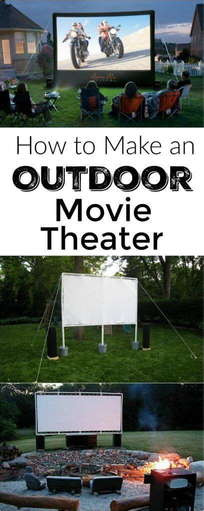 How To Throw A Summer Backyard by How To Make Your Own Backyard Theater The Best