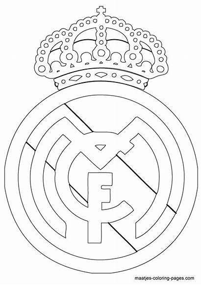 Madrid Coloring Pages Soccer Ronaldo Club Cake