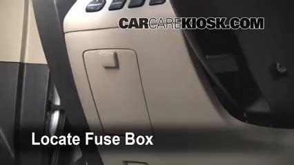 interior fuse box location   toyota highlander  toyota highlander limited