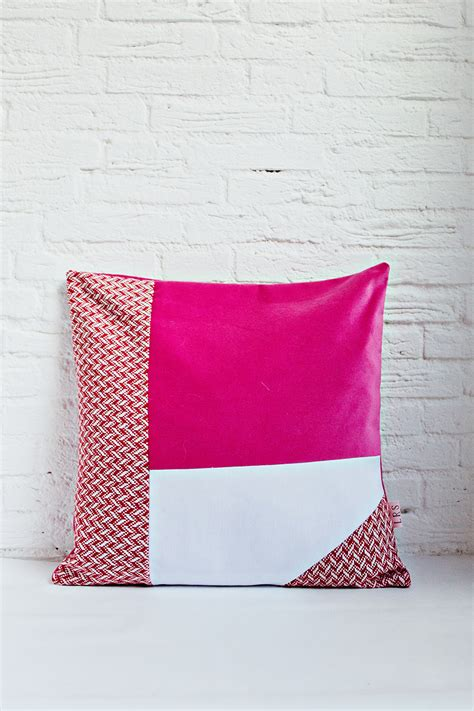 3 Cushion Cover by Handmade Cushion Cover Pink White Shop
