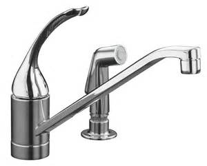 sink kitchen faucet kohler coralais single kitchen sink faucet in polished chrome the home depot canada