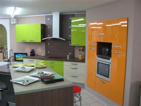 deco cuisine orange decoration cuisine orange et vert