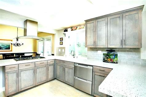 grey wood kitchen cabinets stained wood kitchen cabinets gray stained kitchen 4100