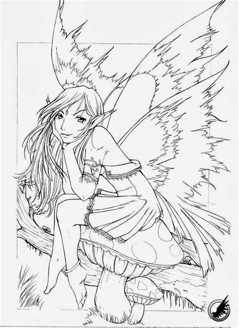 Gothic Fairy Coloring Pages Printable Colorings net