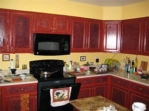 Brighter kitchen paint colors with cherry cabinets for Best brand of paint for kitchen cabinets with personalised wall art