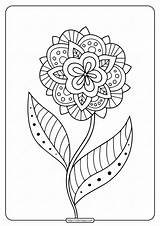 Coloring Mandala Adult Printable Floral Adults Colouring Animal sketch template
