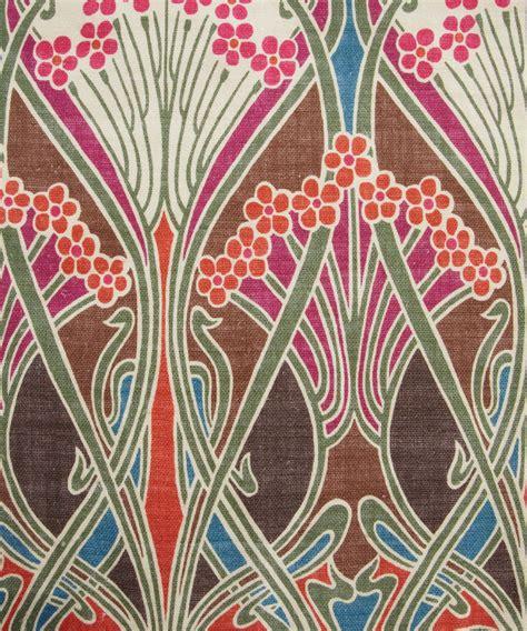 Liberty Print Upholstery Fabric by Brown Ianthe Print Linen Union Liberty Furnishing Fabrics