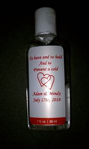 60 best images about wedding favors on pinterest sugar for Hand sanitizer bridal shower favors