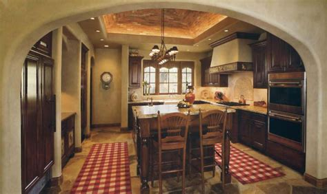 splendid rustic country kitchens with false ceiling
