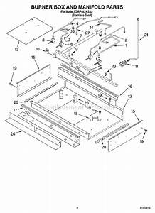 kitchenaid kdrp467kss0 parts list and diagram With manifold switch assembly diagram parts list for model b09j50020