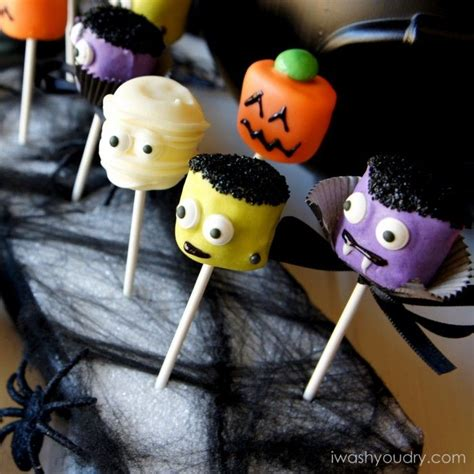 halloween marshmallow pops halloween  cute  marshmallows