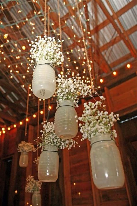 Rustic Wedding mason jar wedding decor ideas   Deer Pearl