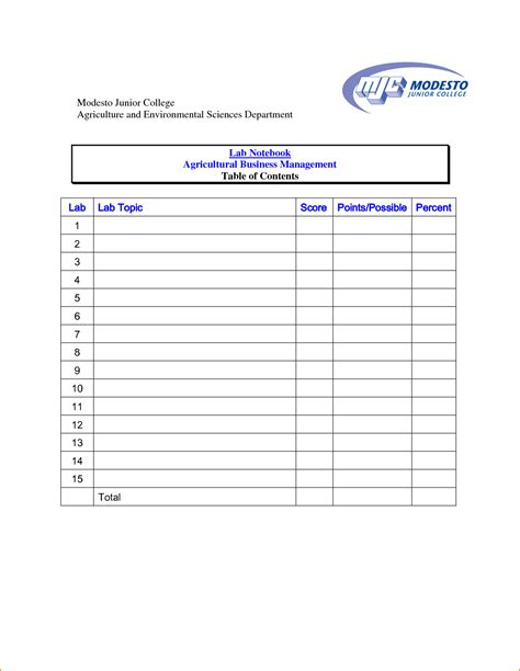 content template 4 table of content template teknoswitch