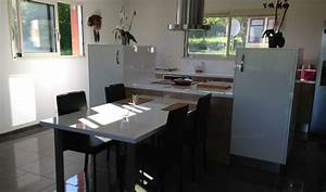 lot central de cuisine cuisine quipe avec lot dolce par With meuble de cuisine ilot central 5 comment fabriquer un 238lot central de cuisine en palettes