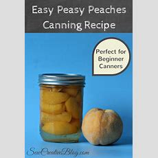 Easy Peasy Peaches Canning Recipe Perfect For Beginners  Hello Creative Family
