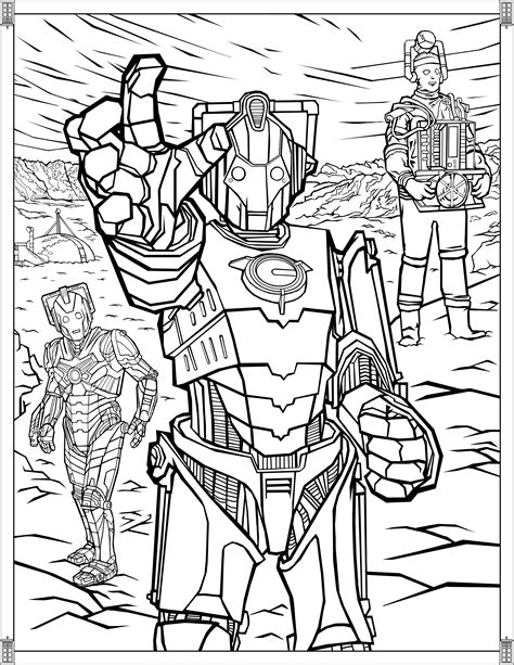 Doctor Who: Wibbly Wobbly Timey Wimey Coloring Pages