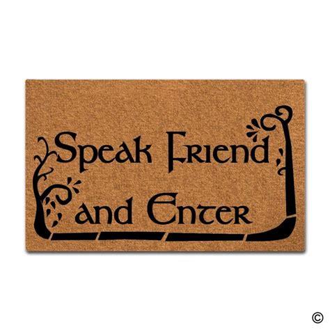 enter doormat doormat entrance floor mat doormat speak friend and