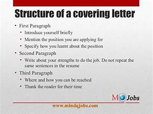 mindqjobscom resume structure and covering letter With structure of a covering letter