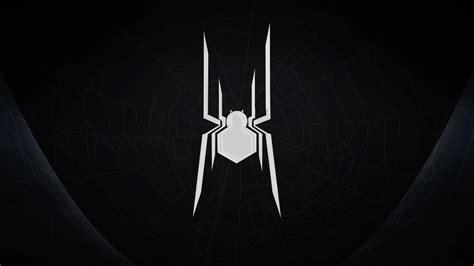Civil War Spiderman Minimal Wallpaper (black) By