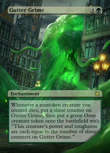 gutter grime full art foil proxy mtg card magic