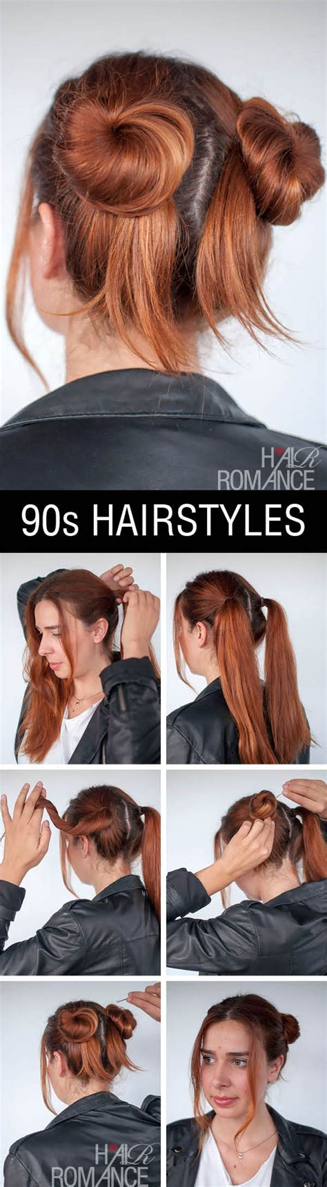 How To Do 90s Hairstyles by 90s Inspired Normcore Hair Tutorial Buns Hair