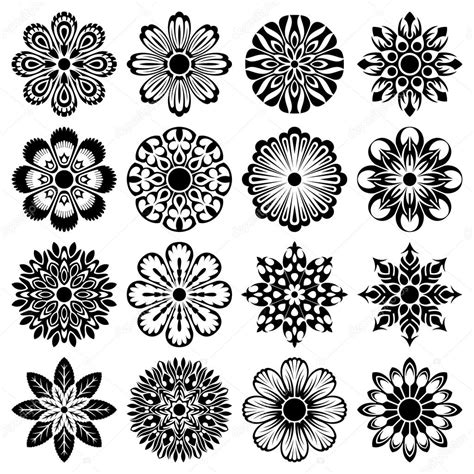 Abstract Flower Shapes by Abstract Floral Shapes Stock Vector 169 Alisher 14129525