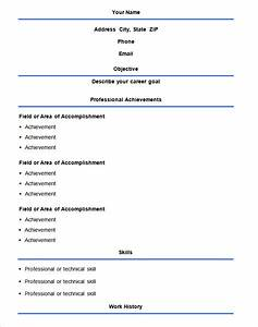 Basic Resume Template 70 Free Samples Examples Format