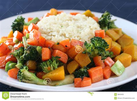 Rice & Vegetables Stock Photos   Image: 3843453