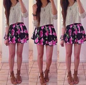 Skirt: sweater, cute, outfit, fashion, teenagers ...