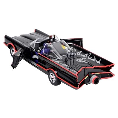 Original Batmobile Autographed By lot detail adam west and burt ward autographed mattel