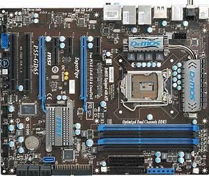 2017 Msi P55 Gd65 Lga 1156 Intel Desktop Motherboard Tested Working From Lijin201108   189 77