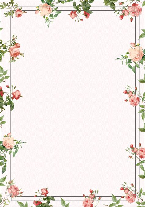 vintage posters flowers border background  images