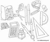 Coloring Supplies Pages Printable Adults Print sketch template