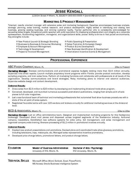 best resume for marketing director exle marketing manager resume free sle