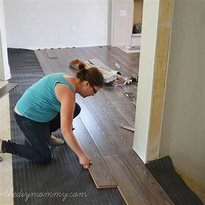 Woodwork diy wood laminate floor installation pdf plans for How to lay down laminate flooring