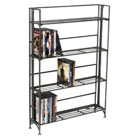 container store folding bookcase 4 shelf iron folding media rack savy up my apartment