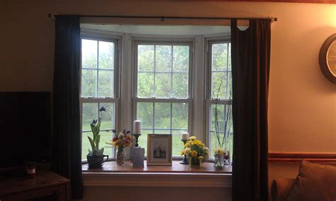 bay window decor update living room windows country rooms french basement treatments remodeling replaced pool tips sill accessories remodel guest