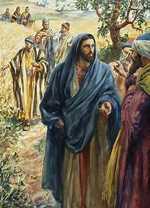 Christ With His Disciples Painting by Henry Coller