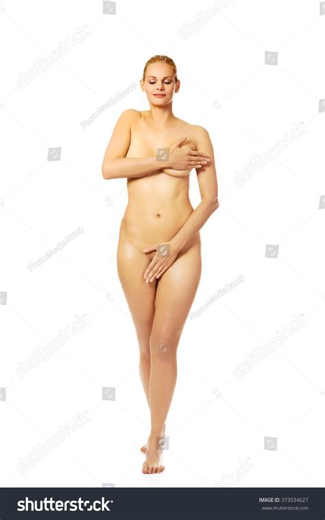 Attractive Naked Woman Covering Herself Stock Photo Shutterstock